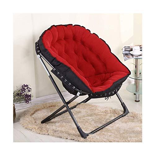 SONGYU Sedia da Giardino Imbottita Portatile Pieghevole da Giardino Moon Chair Imbottita Rotonda da Viaggio per Campeggio all'aperto