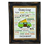 AnneSvea Camping Relaxes. Druck Poster A4 Bus Camper