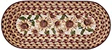 Brumlow Mills Sunflower Braided Pattern Rustic Floral Area Rug for Kitchen, Entryway, Bathroom Mat and Home Décor, 20' x 44'