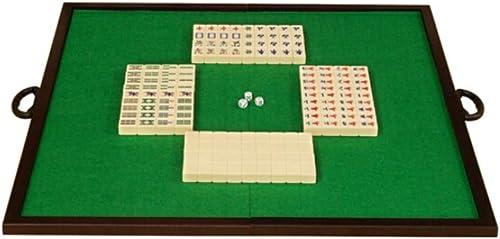 HU Bordure en Bois Massif Mahjong Table Pliante portable à La Maison Voyage Loisirs Loisirs Jouets Boîte De RangeHommest en Aluminium oren Mahjong