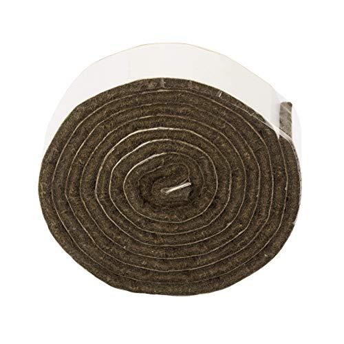 LouMaxx Filzband - Filz selbstklebend 19x1000 mm, 2 er Set braun - Filzband selbstklebend – Klebefilz – Filzrolle - Selbstklebender Filz - Filzstreifen selbstklebend zum zuschneiden