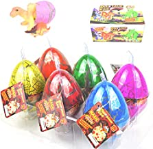 Dinosaur Eggs, Set of 6 Pcs Crack Colorful Hatching Dino Eggs in Water, Dinosaur Toys for Boys, Kids, Children, Water Growing Toys for Birthday, Surprise Gifts for Children's Day