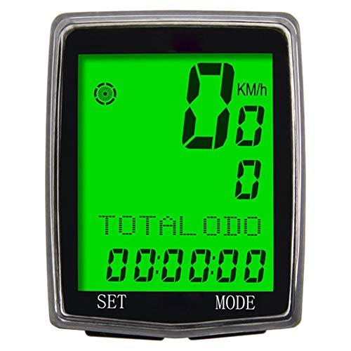 MAIKONG Bike Computer Draadloze Fietsen Computer Waterdichte Automatische Wekker Backlight 21 Functie Fiets Snelheidsmeter Odometer Grote LCD Display voor het bijhouden Rijsnelheid Track Afstand