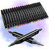 Rotuladores de tela RATEL, 24 con 20 marcadores...