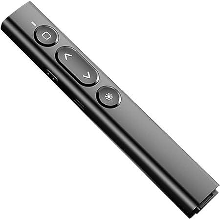 USB De Charge Présentation Clicker Pointeur Laser avec Pointeur de La Souris 2.4Ghz Sans Fil Télécommande Adapté pour Ordinateur Portable