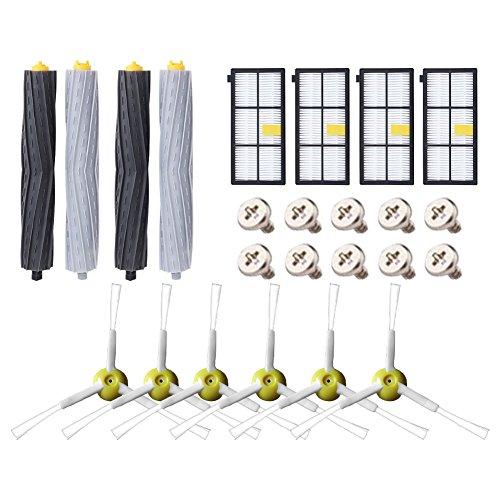 ABClife Kit de Accesorios Compatible con iRobot Roomba Recambios Roomba Series 800 805 850 860 865 866 870 871 880 886 890 891 895 896 900 960 965 966 980 para Robot Aspirador, 24in1