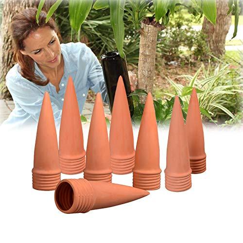 RoseFlower 8 pcs Sistema de Riego Automático Kit,Ajustable Piezas Riego por Ggoteo Spike Sistema de Irrigación para Jardín para jardín, hogar, Interior y Exterior#Cono