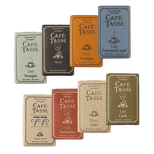 Café-Tasse Schokolade Probierset 8 Täfelchen á 9 g