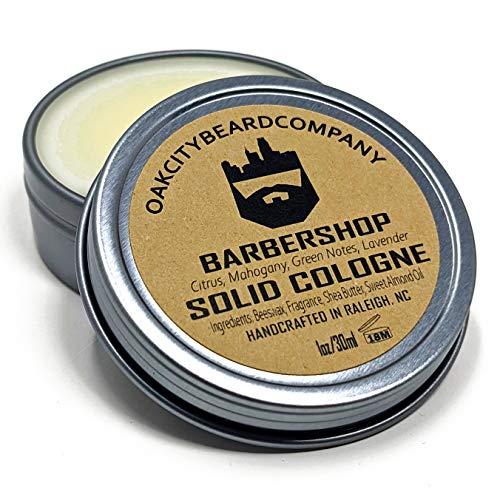 OakCityBeardCo. - BarberShop - Men's Solid Cologne - 1oz - Citrus - Mahogany - Green Notes - Lavender - Classic Clean Man Scent