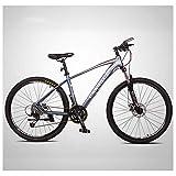 Unbekannt Mountain Bikes, 27-Gang 27,5 Zoll Große Reifen Mountain Trail Bike, Dual-Suspension Mountainbike, Alurahmen, Männer Frauen Fahrrad,Blau