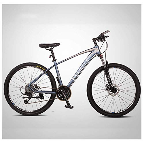 DJYD 27-Gang-Mountainbikes, 27,5 Zoll große Reifen Mountain Trail Bike, Dual-Suspension Mountainbike, Alurahmen, Männer Frauen Fahrrad, Rot FDWFN (Color : Blue)