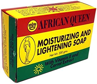 African Queen Moisturizing and Lightening Soap with Vitamin E and Carrot Extract