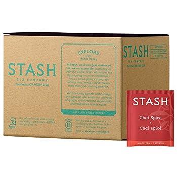 Stash Tea Chai Spice Black Tea Box of 100 Tea Bags