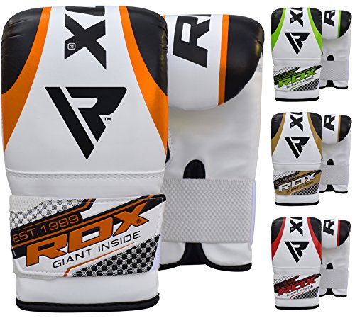 RDX Punching Gloves for Heavy Punch Bag Maya Hide Leather Muay Thai, Kickboxing, MMA, Martial Arts Workout Mitts Great for Focus Pads, Thai Pads, Double End Speed Ball, Grappling Dummy Training