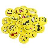 Emoji Kinder Radiergummi 144 Stücke Smiley Radierer Spielzeug Gastgeschenk Geschenke für Geburtstag Party Festival neues Jahr Weihnachten, gelb