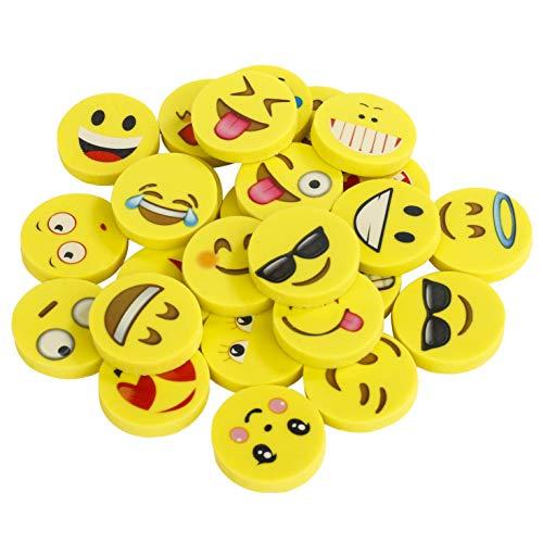 Gomas de borrar Emoji Pack de 144 Emoticon lápiz Gomas borrar Mini Lindos Regalos para Fiesta cumpleaños niños Festival...