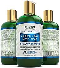 BOTANICAL HAIR GROWTH LAB - Hair Thickening Shampoo - Clove Leaf Moringa - Essential Hair Recovery - Scalp Balancing / Revitalizing - For Hair Loss Prevention Alopecia Postpartum DHT Blocker - 10.2 Oz