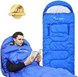 Sportneer Schlafsack, Anziehbarer Deckenschlafsäcke 220 x 84 cm tragbarer 4-Jahreszeiten-Schlafsack mit Reißverschluss für Arme und Füße, für Kinder und Erwachsene, Camping, Wandern, Reisen