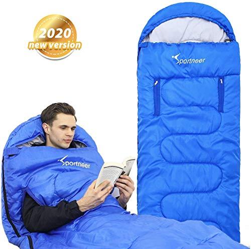 Sportneer Schlafsack, Anziehbarer Schlafsack Outdoor, tragbarer 4-Jahreszeiten-Schlafsack mit Reißverschluss für Arme und Füße, Einzel-Schlafsack-Strampelanzug für, Camping, Wandern, Reisen