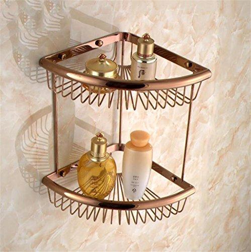 FAFZ Salle de bain complète Copper Triangle Basket, salle de bains Coin-style européen Cadre, salle de bains Antique Shelf (couleur : 20#)