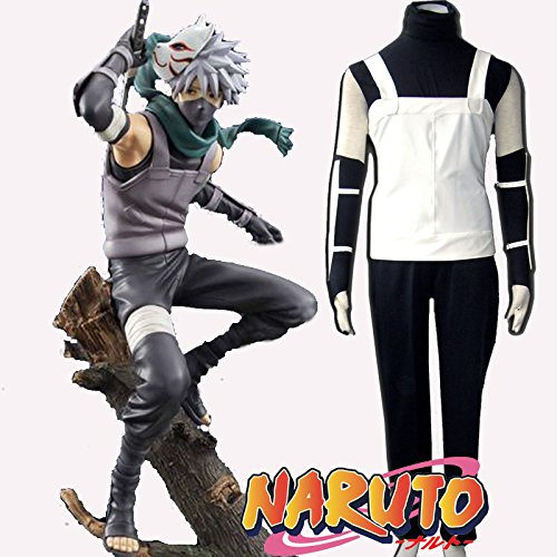 SUNKEE Japanische Anime Naruto Kakashi Anbu Cosplay Neues Outfit, Größe S ( Alle Größe Sind Wie Beschreibung Gesagt, überprüfen Sie Bitte Die Größentabelle Vor Der Bestellung )