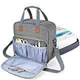 Luxja Carrying Case Compatible with Cricut Easy Press (9 inches x 9 inches), Tote Bag Compatible with Cricut Easy Press and Supplies (Bag Only, Patent Pending), Gray
