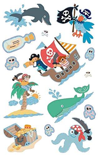AVERY Zweckform 56067 Kinder Sticker Pirat (Glitzerfolie) 14 Aufkleber