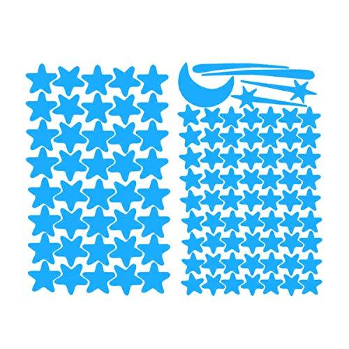 Fiyuer Luminoso Pegatinas de Pared Luna y Estrellas Pegatinas Fluorescentes Noche Interruptor Casa Interior Mural Decoración de la Habitación Para Chico Niña Bebé