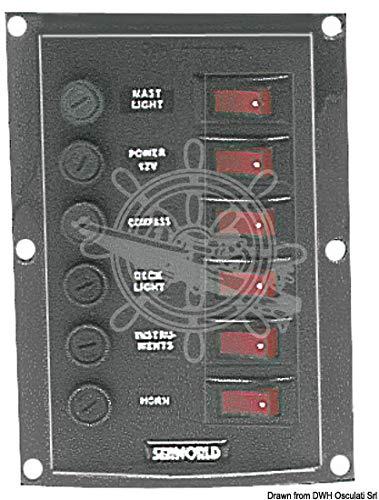 Osculati Pannello 6 interruttori verticale (Vertical Control Panel w. 6 switches)