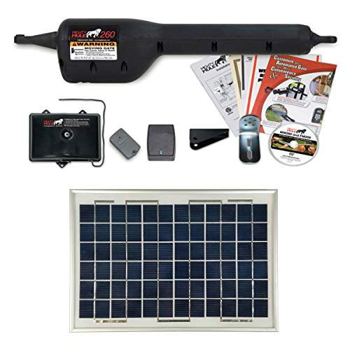 Mighty Mule MM260 Light Duty Solar Panel Single Gate Opener by Solar Made