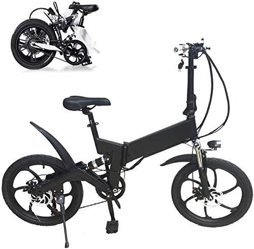 Bicicleta eléctrica de nieve, Plegable bicicleta eléctrica, 36V 250W 7.8Ah batería de litio de aluminio de aleación ligera de E-Bikes, 3 modos de trabajo, delantero y trasero de disco Batería de litio