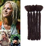 15cm-Extension Dreadlock Corti Leggere Rasta Dread Braiding Hair Treccine per Uomo Donna Capelli Finti per Treccia–Cioccolato