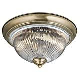 Traditional Antique Brass IP44 Bathroom Ceiling Light -4370