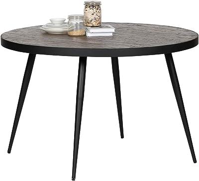 De Eekhoorn Table de Salle à Manger Vic Bois/métal Naturel Largeur 120 cm Hauteur 76 cm