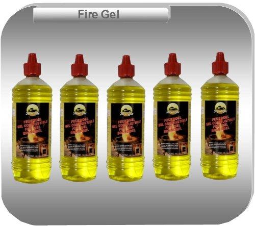 5 Litres de Gel-Combustible de Haute-Performance en Bouteilles de 1 Litre