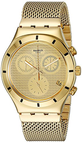 Swatch relojes ironía Chrono Golden, L) ycg410ga hombre [Regular importados]