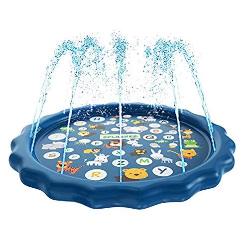 Tappetino per Acqua Spray, Cuscino per Acqua Spray per Esterno Estivo Giocattoli gonfiabili per Acqua Spray per Bambini Giochi per tappetini per Acqua Giochi per irrigatori da Spiaggia