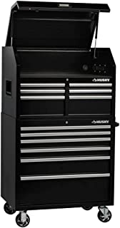 Husky Tool Chest 12-Drawer 36 in. W x 24.5 in. D Rolling Cabinet Combo Black