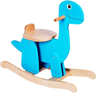 Rocking horse Blue Indoor Toy Wooden Assembled Small Wooden Horse Children Gift Fashion