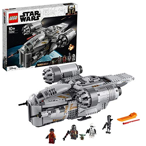 LEGO 75292 Star Wars The Mandalorian Bounty Hunter Transport Starship Toy with The Child Minifigure