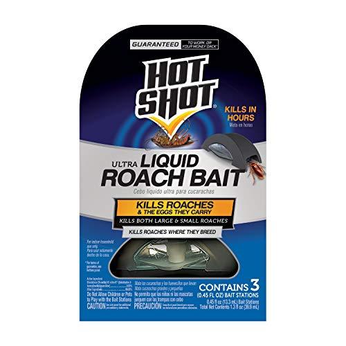Hot Shot HG-96591 Ultra Liquid Roach Bait, 3-Count