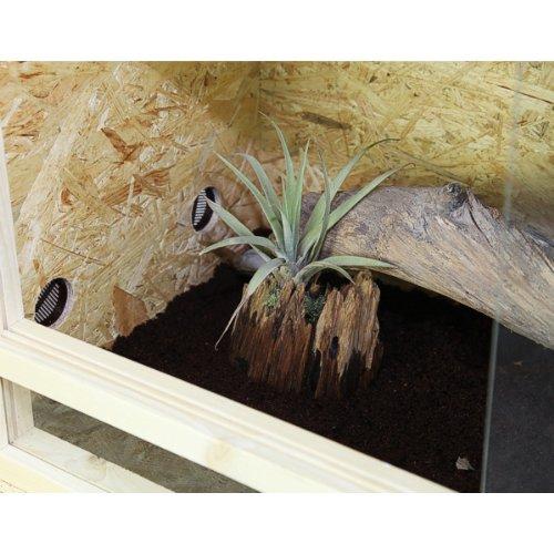 Repiterra® Terrarium aus Holz 120x60x60 cm mit Seitenbelüftung aus OSB Platten mit Floatglas - 5