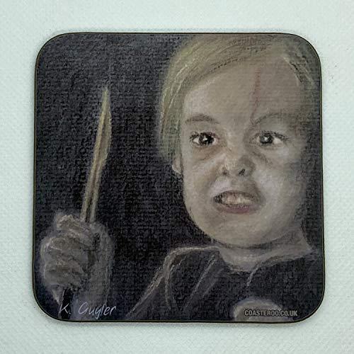 Jauge Creed à partir de Stephen King de Simetierre–boissons chaudes Dessous de Verre–9cm x 9cm–Original Film sur le thème des illustrations Portrait par 312Guyler