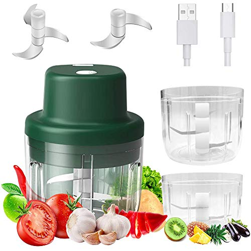 Bayda Chopper,Electric Food Processor,Ginger Mixer,Grinder,2 in 1 Vegetable Choppers with Blades,for Chili/Meat/Fruit