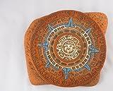 Tumia LAC - Orologio con calendario in ceramica, commercio equo e solidale, realizzato a mano in Messico, per interni ed esterni, lunghezza 27 x altezza 23 cm