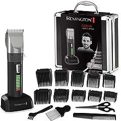 Remington haarsnijmachine HC5810 (zelfslijpende keramische messen, 10 plug-in kammen + precisielengteverstelling, net/batterijbediening, lithium, professioneel aluminium) haarsnijder, haartrimmer*