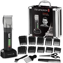 Remington Coffret Cheveux, Tondeuse Cheveux, 10 Sabots, Lames Auto-Affûtées Céramique Avancée, Moteur Pro Puissant…