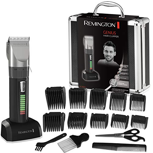 Remington HC5810 Genius Tagliacapelli con lama in Ceramica, ricaricabile, 10 pettini,...