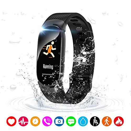 Lixada Braccialetto Smart Cardiofrequenzimetro in Tempo Reale Fitness Tracker Sportivo Blood Pressure Ossigeno Monitor Smart Wristband