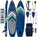 ALPIDEX Tabla Hinchable Surf Stand Up Paddle Board 305 x 76 x 15 cm ISUP Peso Máximo 110 kg Sup Ligero Estable Juego Completo, Color:Azul